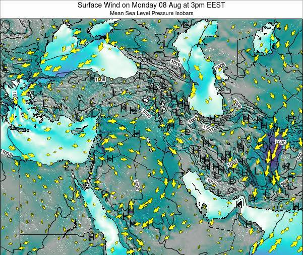 Israel Surface Wind on Wednesday 29 May at 9pm EEST
