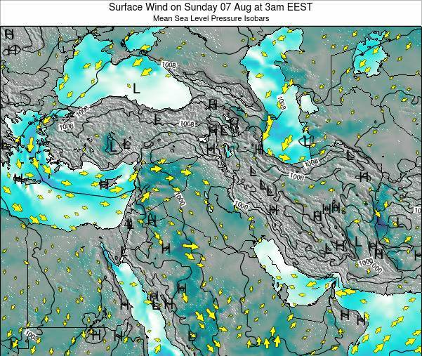 Israel Surface Wind on Monday 20 May at 3pm EEST map