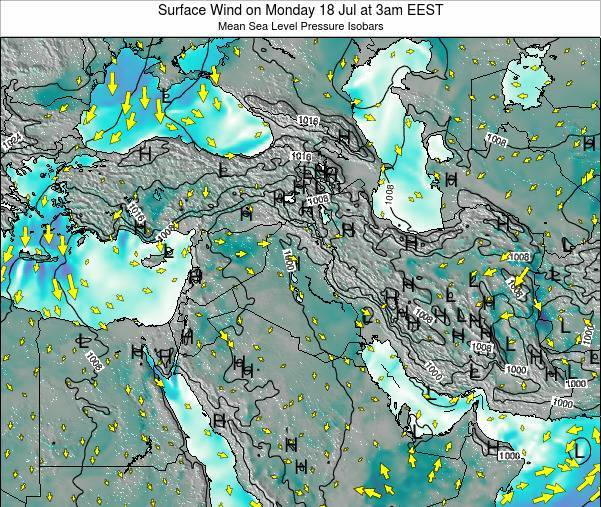 Israel Surface Wind On Tuesday 12 Mar At 2pm Eet