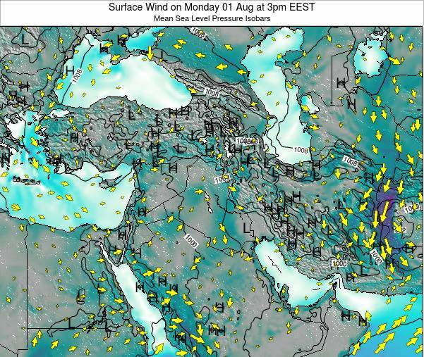 Syria Surface Wind on Monday 27 May at 3pm EEST map