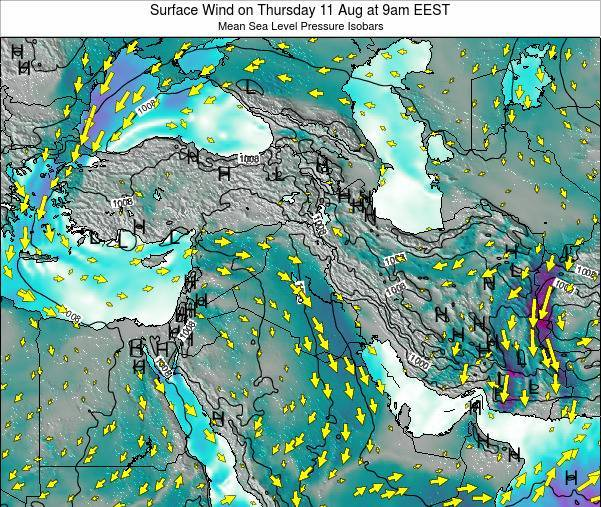 Lebanon Surface Wind on Friday 31 May at 3am EEST
