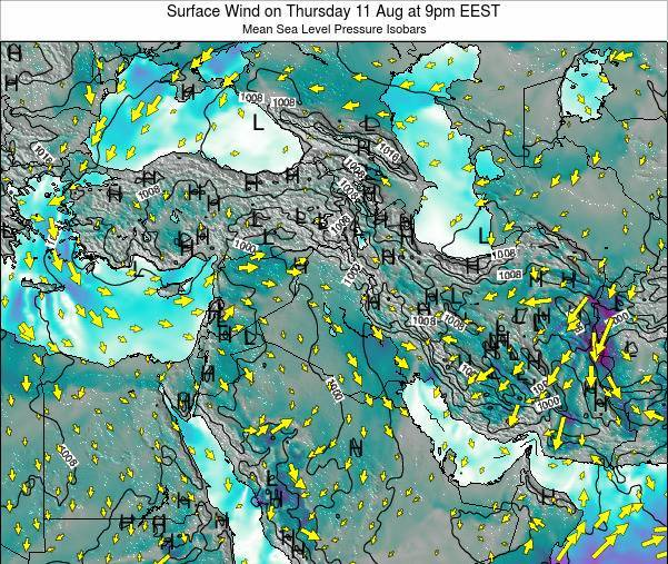 Lebanon Surface Wind on Sunday 26 May at 3pm EEST