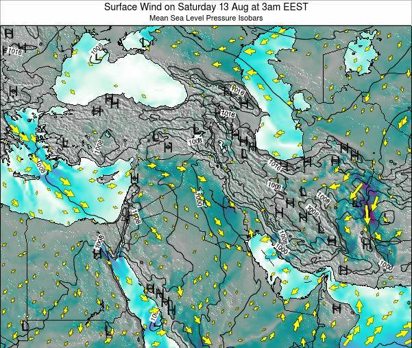 Israel Surface Wind on Friday 28 Jul at 9pm EEST