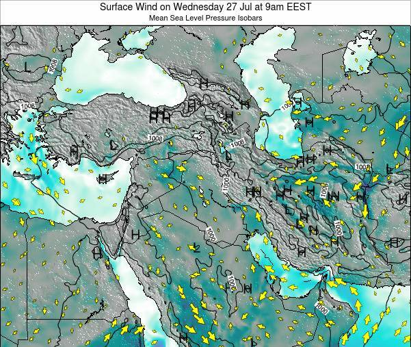 Israel Surface Wind on Saturday 02 Aug at 9pm EEST
