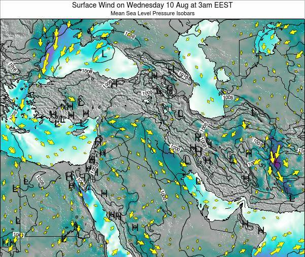 Israel Surface Wind on Saturday 14 Dec at 2am EET