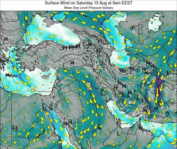 Israel Surface Wind on Tuesday 28 May at 9pm EEST