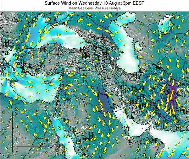 Israel Surface Wind on Friday 01 Jul at 9pm EEST