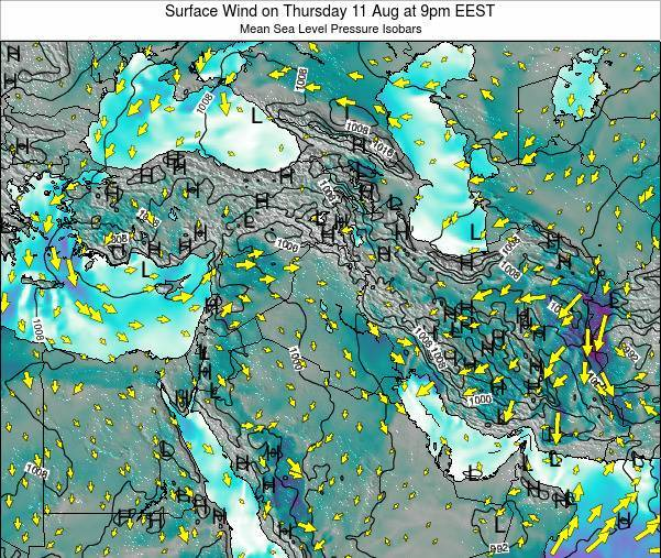 Israel Surface Wind on Thursday 31 Jul at 3am EEST