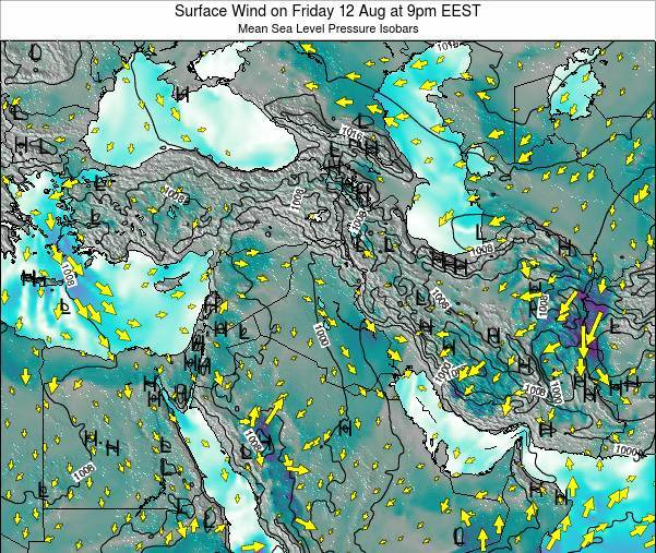 Israel Surface Wind on Wednesday 30 Apr at 9pm EEST