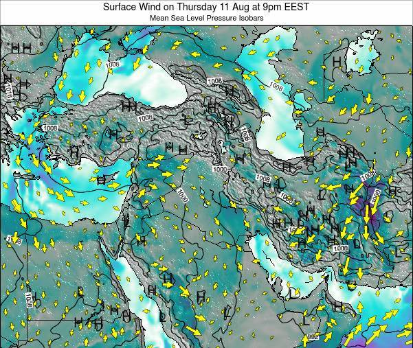 Lebanon Surface Wind on Friday 24 May at 9am EEST