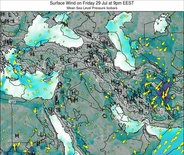 Syria Surface Wind on Wednesday 29 May at 3pm EEST map