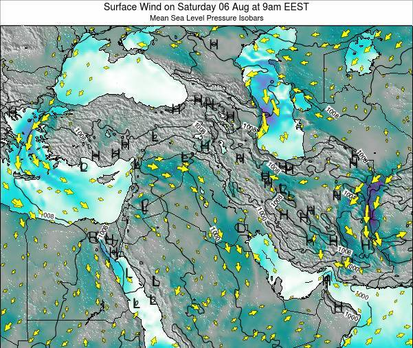 Israel Surface Wind on Tuesday 11 Mar at 8pm EET