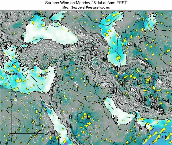 Israel Surface Wind on Saturday 19 Apr at 9pm EEST