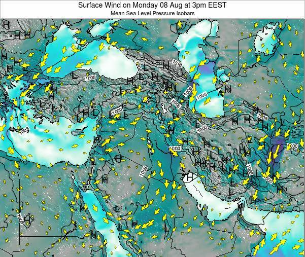 Israel Surface Wind on Tuesday 10 Dec at 2pm EET