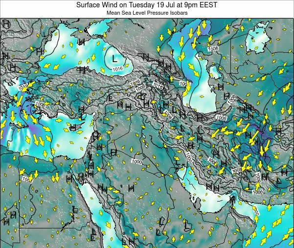 Israel Surface Wind on Monday 28 Jul at 9pm EEST
