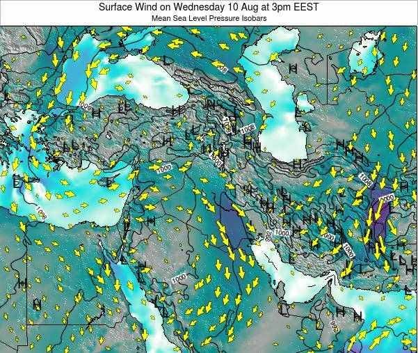Israel Surface Wind on Friday 30 Jan at 8pm EET