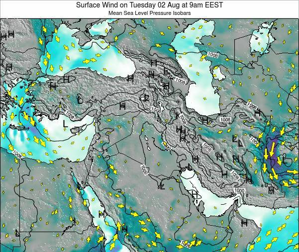 Israel Surface Wind on Friday 13 Dec at 8am EET