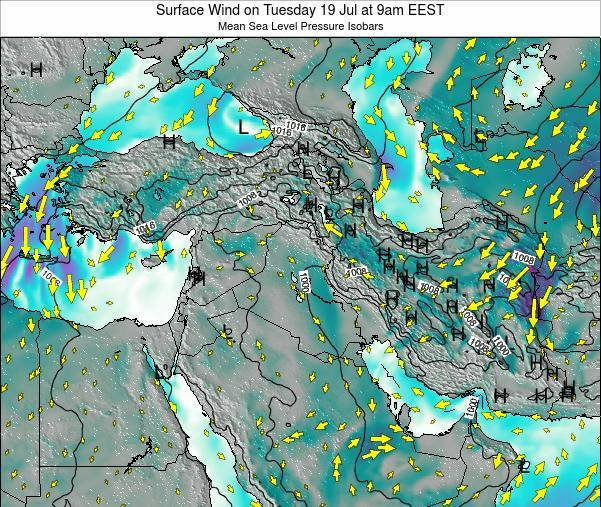 Israel Surface Wind on Saturday 26 Apr at 9pm EEST