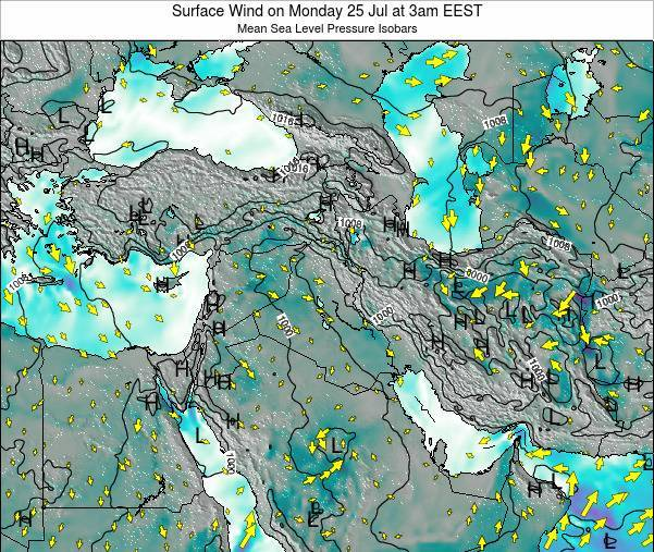 Israel Surface Wind on Thursday 23 Apr at 3am EEST