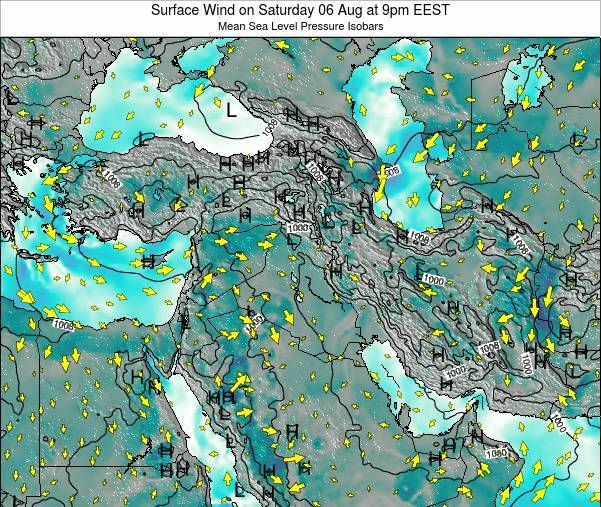 Israel Surface Wind on Monday 27 Oct at 9pm EEST