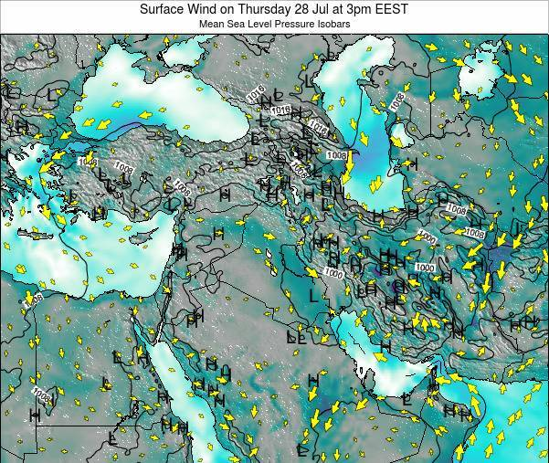 Lebanon Surface Wind on Saturday 19 Apr at 3pm EEST