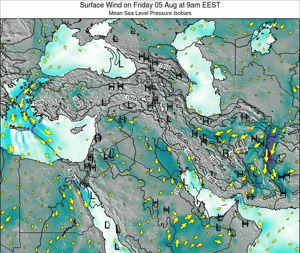 Lebanon Surface Wind on Thursday 05 Dec at 2am EET