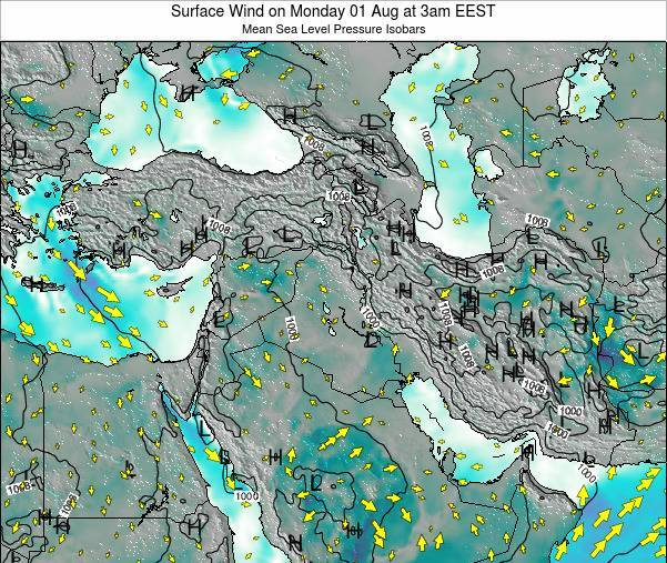 Lebanon Surface Wind on Wednesday 23 Apr at 3pm EEST