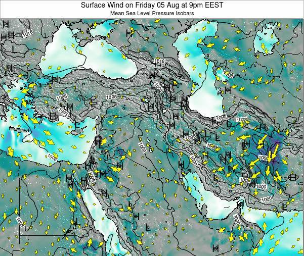 Israel Surface Wind on Friday 18 Apr at 9am EEST