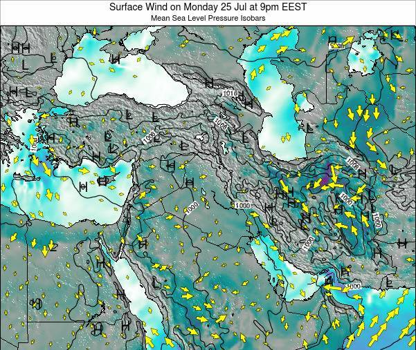 Lebanon Surface Wind on Tuesday 29 Jul at 9am EEST