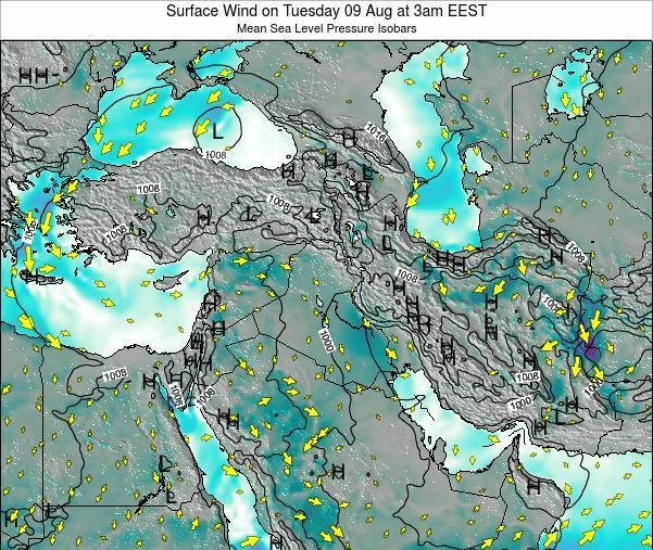 Syria Surface Wind on Sunday 26 May at 9pm EEST map