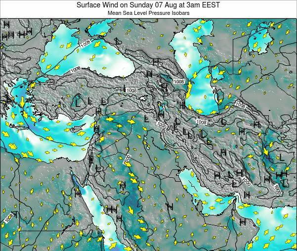 Lebanon Surface Wind on Tuesday 28 May at 9am EEST