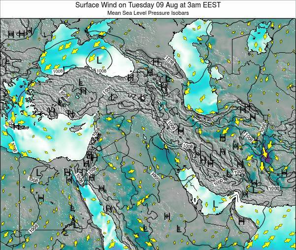 Lebanon Surface Wind on Sunday 26 May at 9pm EEST