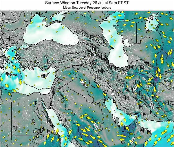 Israel Surface Wind on Saturday 15 Mar at 8am EET