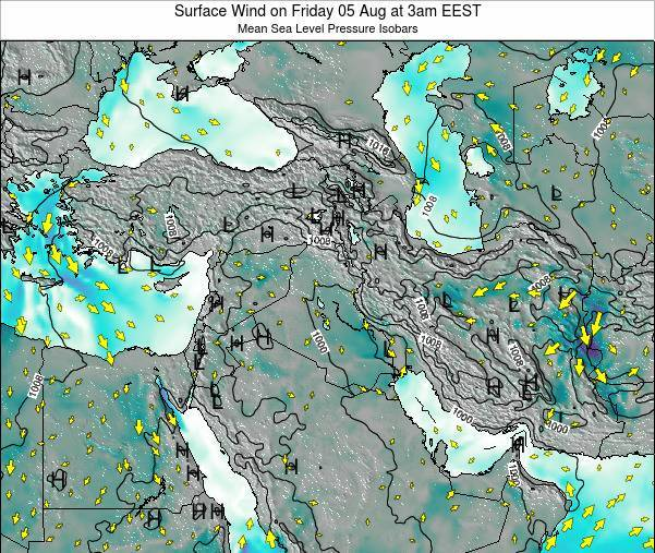 Syria Surface Wind on Wednesday 22 May at 3pm EEST map