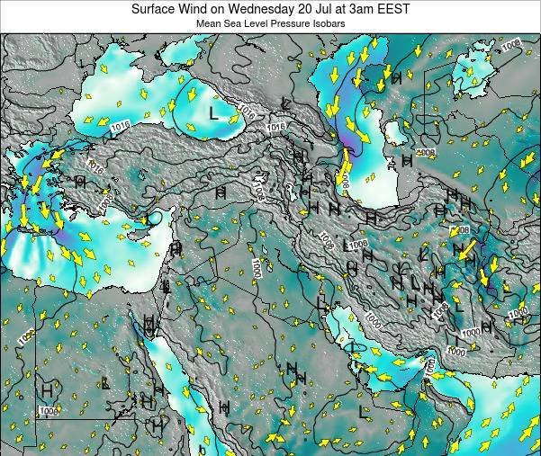 Israel Surface Wind on Tuesday 11 Mar at 2pm EET