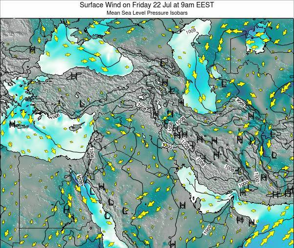 Israel Surface Wind on Thursday 12 Dec at 8pm EET