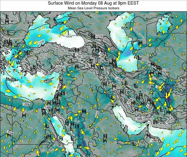 Israel Surface Wind on Tuesday 22 Apr at 3pm EEST