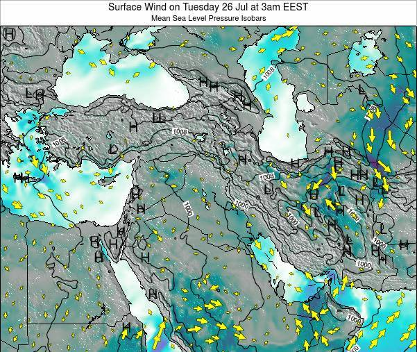 Israel Surface Wind on Saturday 22 Jun at 9pm EEST