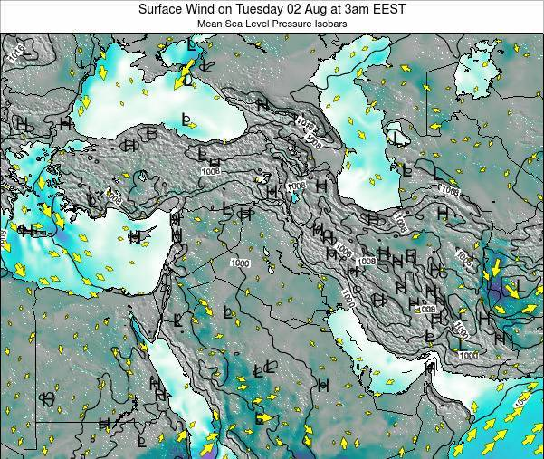 Lebanon Surface Wind on Friday 24 May at 9pm EEST