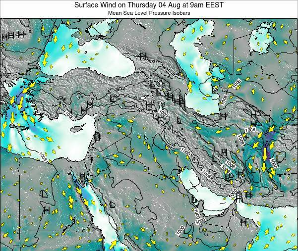 Israel Surface Wind on Sunday 27 Jul at 3am EEST