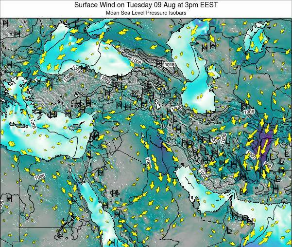Israel Surface Wind on Sunday 26 Oct at 9am EEST