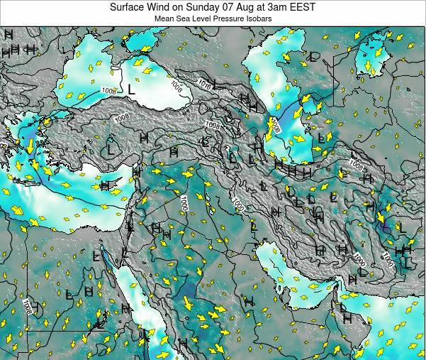 Israel Surface Wind on Thursday 23 May at 3pm EEST