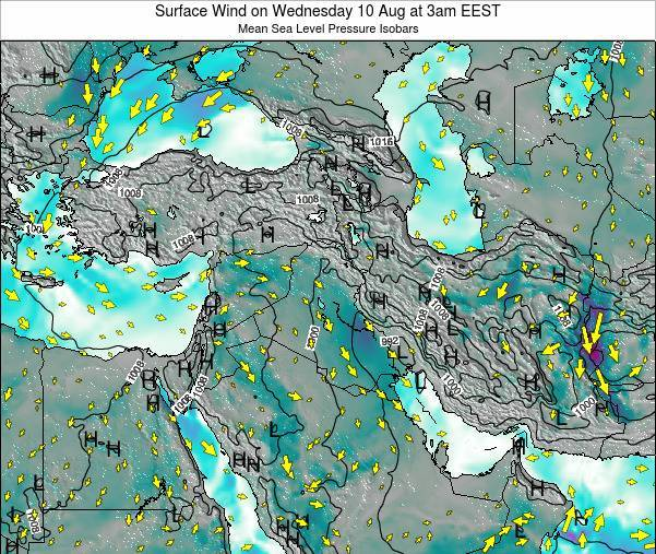 Israel Surface Wind on Sunday 27 Apr at 3am EEST