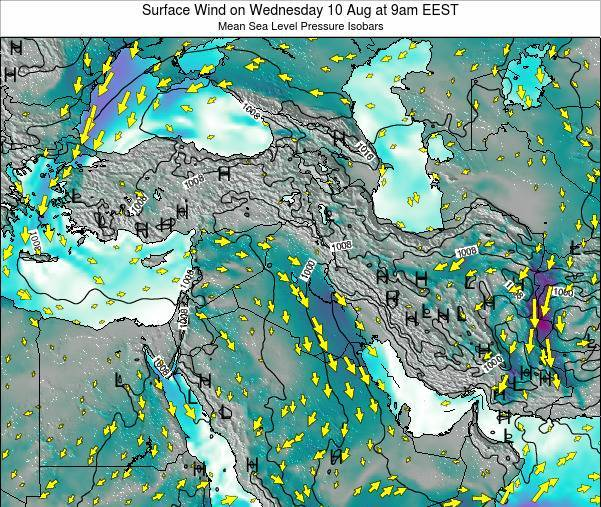 Lebanon Surface Wind on Saturday 25 May at 3pm EEST