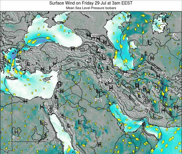 Israel Surface Wind on Friday 30 Jun at 3pm EEST