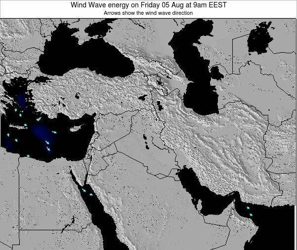 Israel Wind Wave energy on Monday 11 Dec at 2am EET map