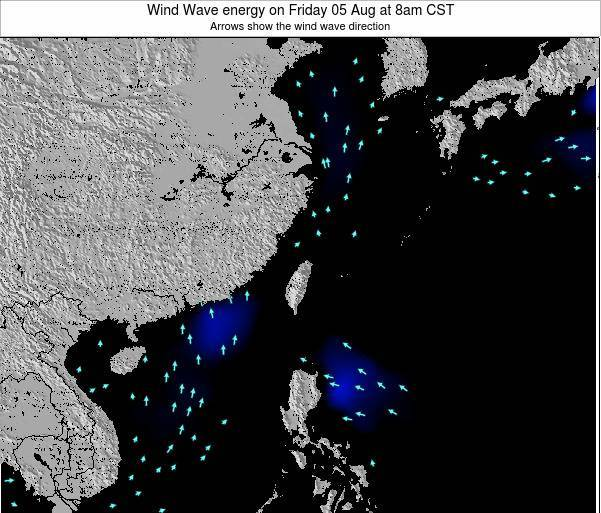 Taiwan Wind Wave energy on Monday 30 Mar at 8am CST