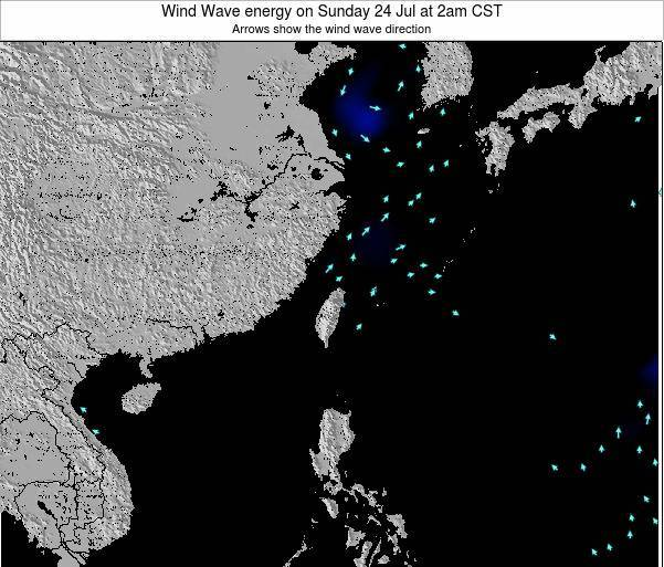 Taiwan Wind Wave energy on Saturday 22 Nov at 8pm CST