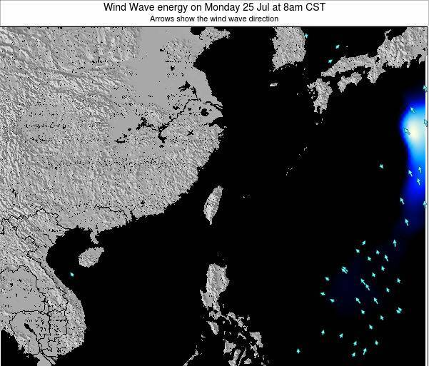 Taiwan Wind Wave energy on Friday 20 Dec at 2pm CST