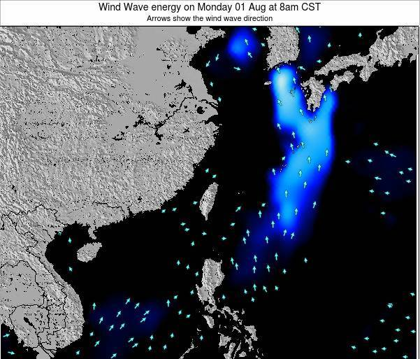 Taiwan Wind Wave energy on Monday 27 Jun at 8pm CST